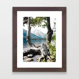 Tetons at Jackson Lake Wyoming Framed Art Print