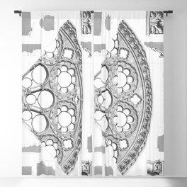 Notre Dame Rose Window Facade Architecture Blackout Curtain
