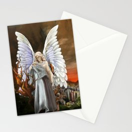 Gaurdian Angel Painting Stationery Cards