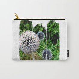 Striped Blossom Carry-All Pouch