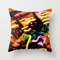 matisse Throw Pillows featuring Matisse Notes by RIA CURLEY: Limited Edition Digital Art