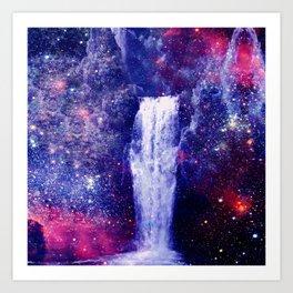Waterfall Space Art Print