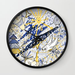 Winter Mod Limited Color Palette Wall Clock
