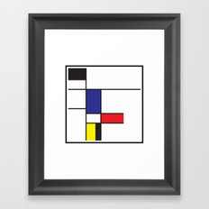 Composition Framed Art Print