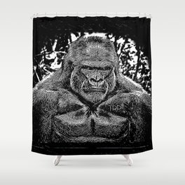Primate Models: Mad Gorillas 01-02 Shower Curtain