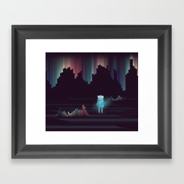 the adventure continues ! Framed Art Print
