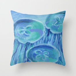 Striated Jelly Moons Throw Pillow
