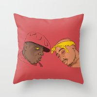 tupac Throw Pillows featuring Resting Kings by Aybee Omari