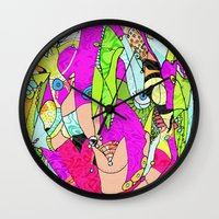joker Wall Clocks featuring Joker by Ingrid Padilla
