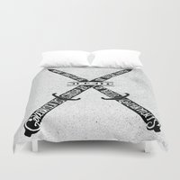 vendetta Duvet Covers featuring V for Vendetta by Drew Wallace