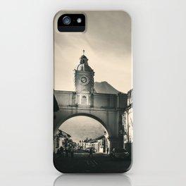 Antique buildings in Antigua, Guatemala iPhone Case