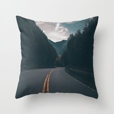 Road #Trees Throw Pillow