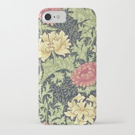 William Morris Chrysanthemum iPhone Case