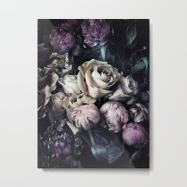 Roses and peonies vintage style Metal Print