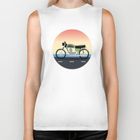 moto Biker Tanks featuring Moto Cruise by Fred Jonathan