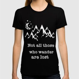 Vintage Hoodie Not All Those Who Wander Are Lost Gift Idea T-shirt