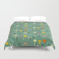 kitchen Duvet Covers featuring Kitschy Kitchen by Odd Lee