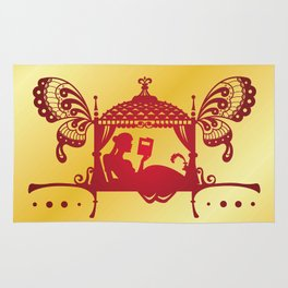 Bridal Palanquin India.doli silhouette Rug