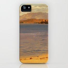 Mount Katahdin from Lake Millinocket - Frederic Edwin Church iPhone Case