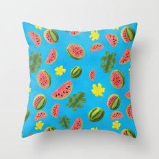 Summer Watermelon Pattern Throw Pillow