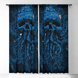 blue kraken skull Blackout Curtain