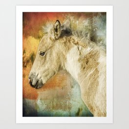 Portrait of a Filly Art Print