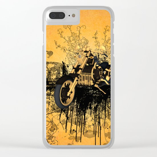 Steam motorcycle Clear iPhone Case