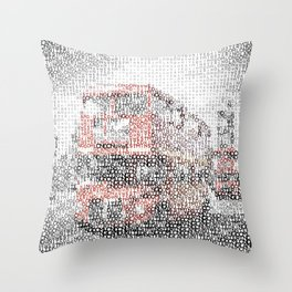 Typographic Art | LONDON Westminster Bridge Buses Throw Pillow