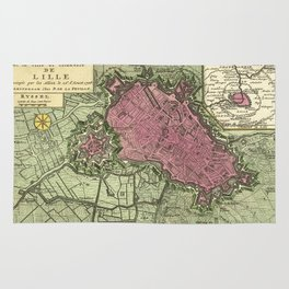 Map Of Lille 1708b Rug