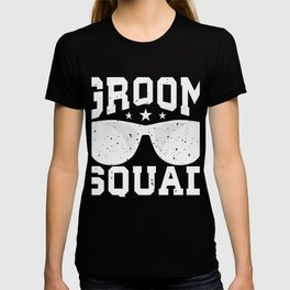 Groom Squad Sunglasses Groomsmen Weeding T-shirt