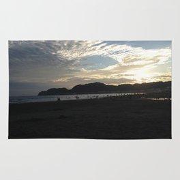 The sunset of Kamakura beach Rug