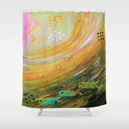 Fish in a Green Sea Shower Curtain