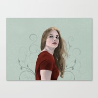 lydia martin Canvas Prints featuring Lydia Martin by mistyworks