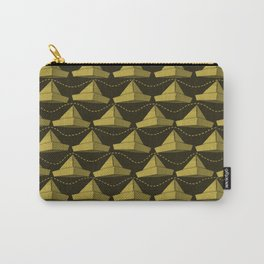 Paper Hats Pattern | Dark Yellow Carry-All Pouch