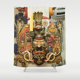 Naga Mask Shower Curtain