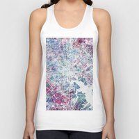 baltimore Tank Tops featuring Baltimore by MapMapMaps.Watercolors