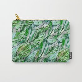 Crystal Emerald Green Gem 1 Carry-All Pouch