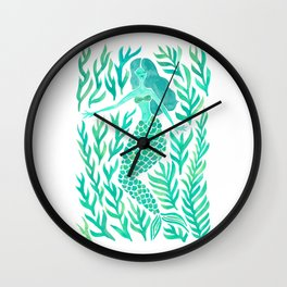 Kelp Forest Mermaid – Mint Palette Wall Clock