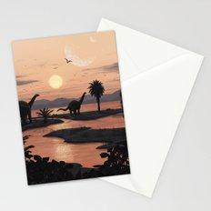 Jurassic Beach Stationery Cards