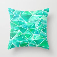 emerald Throw Pillows featuring Emerald by Jamworth