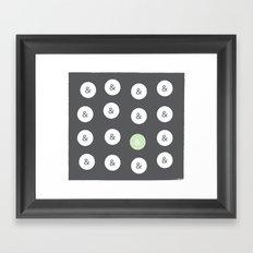 spot color ampersand Framed Art Print