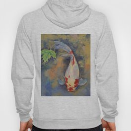 Koi with Japanese Maple Leaf Hoody