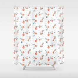 Watercolor Oranges Shower Curtain