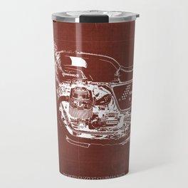 2010 Moto Guzzi V7 Clubman Racer red blueprint Travel Mug