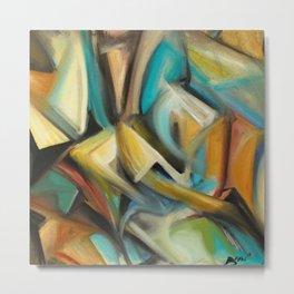Cubism Painting Metal Print