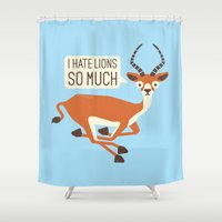 thrones Shower Curtains featuring Prey Tell by David Olenick