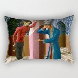 Erik gives the Daroga a hard time Rectangular Pillow