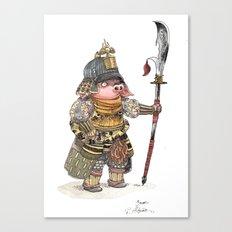 Cochon Samouraï Canvas Print