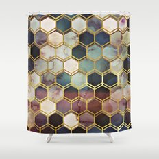 RUGGED MARBLE  Shower Curtain