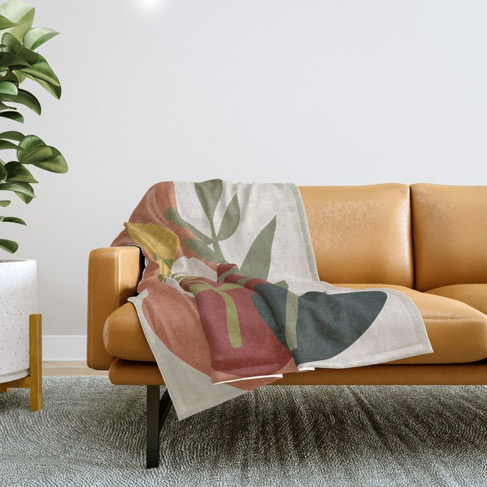 Two Abstract Branches Throw Blanket